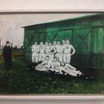 Chic vor Scheune, Werder Bremen 1900