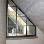 T036 Stahlfenster in leichtem T-Stahl Optik