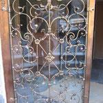 T 018 Gittereinsatz geschmiedet in Bronze für Glastür