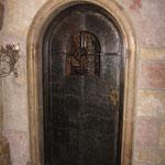 T 035 Zimmertür in Hammerschlagblech - Eisen gebürstet und gewachst