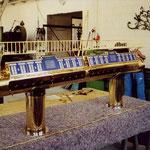 Messingzapfanlage - mit Gläserboard, Zinn Endstücke -  MS 004