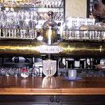 Messingzapfanlage Spantenbrauerei, mit Zinn - Endstücke  - MS 005