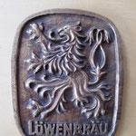 Bronzeguß Logo - Original Löwenbräu - von hand modelliert  ca. 165 x 130 mm