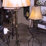 Stehleuchte Bronze mit Pergaschirm 8-Eckig  SL/ Br 004