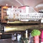 Messingzapfanlage mit Gläserboard und Zinn - Endstücke -  MS 002