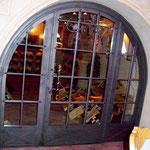 T 029 Weinkellertür in Eisen schwarz mit Sicherheitsglas