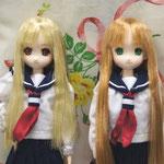 2010/12/12 アイドールにて展示の2人 (photo by ayame)