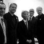 v.l.n.r.: Bgm. Markus Landauer, Eduard Kutrowatz, Architekt Hiroshi Hara, Roland Hagenberg, Johannes Kutrowatz