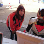 JAF 一般社団法人日本自動車連盟での子ども安全免許証を取得中のバリスガー