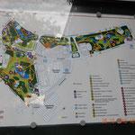 der Plan des Parks - wir haben den rechten Teil und die Mitte gesehen