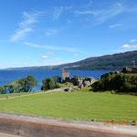 Urquhart Castle vom Besucherzentrum aus