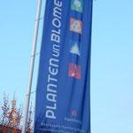 die Eingangsflagge zum Park (einer der Eingänge)
