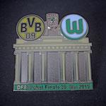 DFB-Pokal Finale 2015 Pin Brandenburger Tor grün