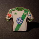 VFL Wolfsburg Trikot Pin away 2013/2014 mit Ligapatch und Hermes-Patch