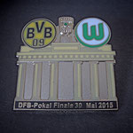 DFB-Pokal Finale 2015 Pin Brandenburger Tor schwarz