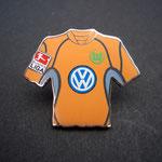 VFL Wolfsburg Trikot Pin 2002/2003 away mit Ligapatch