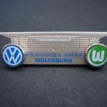 VW Volkswagen VFL Wolfsburg Pin Arena Stadioneinweihung gestempelt