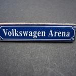 VW Volkswagen VFL Wolfsburg Pin Straßenschild Arena
