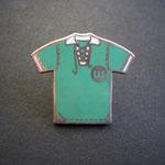 VFL Wolfsburg Trikot 1954 Sterling Silver mit Emaille (Rückseite VW Logo)