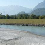 Der Rhein zwischen Lichtenstein und der Schweiz
