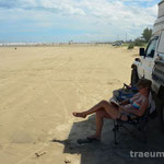 Mittagspause am Strand bei Torres