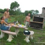 beim BBQ mit Tina und Marco