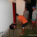 BBQ mit Daniel und Clovis