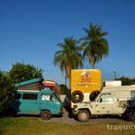 Stellplatz beim HI Hostel in Bonito