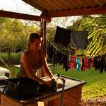 Waschtag am Camping do Gordo