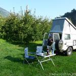 Stellplatz in Saltaus, Südtirol