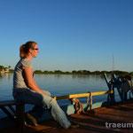 Mit der Faehre ueber den Rio Paraguai