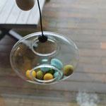 Eva Solo Vogelfutterhaus Bird Feeder, Ostereier im Glasring