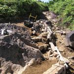 浸食された登山道の維持管理 登山道は手入れが必要
