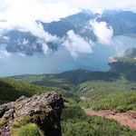 ⑤山頂からの大展望、中禅寺湖、戦場ヶ原、日光白根山などの他、関東平野が一望にできます