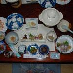③山菜料理、山女魚と山菜の組み合わせが、山の宿のなによりのご馳走だ(熊本県八代市五家荘)