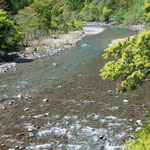 ③徳島県海部川、環境省の調査で、最もきれいな川の一つとして認定され、ダムのない自然河川として、アマゴやテナガエビなどの生きものが豊富。
