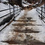 ④登山道のシカ対策、山頂部への侵入防止のためにグレーチングの設置(神奈川県伊勢原市)
