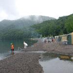 家族でキャンプ(支笏湖)