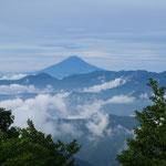 ⑤東京都の最高峰・雲取山からの富士山、七ツ石山、鷹ノ巣山と奥多摩駅に至る石尾根は富士山の好展望地(奥多摩町)