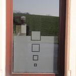 carré vitre sablé