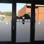 vitres sablées avec motifs