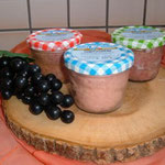 Ziegenbratwurst, Ziegenfleischkäse u. Ziegenkochsalami im Glas