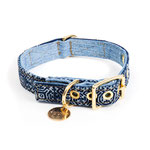 Hundehalsband Vintage Batik Denim Found My Animal