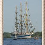"""Das russische Segelschulschiff """"MIR"""".  Ist sie nicht schön..."""