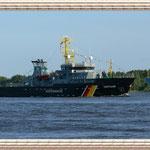 """Das Küstenwachschiff """"Seefalke""""."""