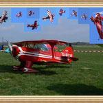 Und hier habe ich Fotos von der Kunstflugshow mit eingesetzt.  Pitts in allen Lebenslagen...