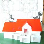 Einfamilienhaus Modell Maßstab 1:100