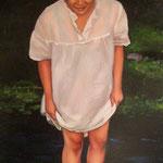 2009/ En el rio, 62 x 56 cm. óleo sobre tela