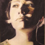 Selfportrait, oil on canvas, 30 x 20 cm. 2003