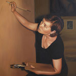 2009/ Otro autorretrato de pintor, 90 x 100 cm. óleo sobre tela